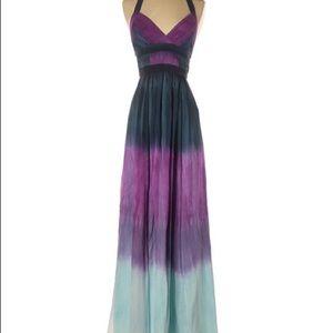 BCBG Size 10 silk Ombre Maxi Dress